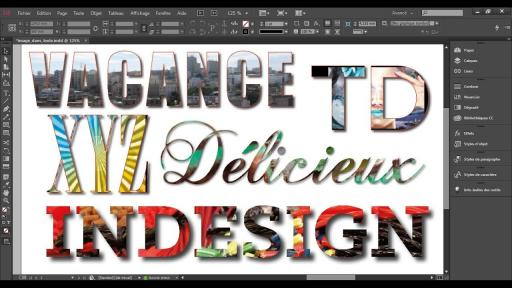 Astuce InDesign CC: Mettre une image dans du texte